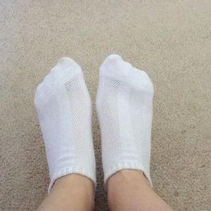 Used white socks